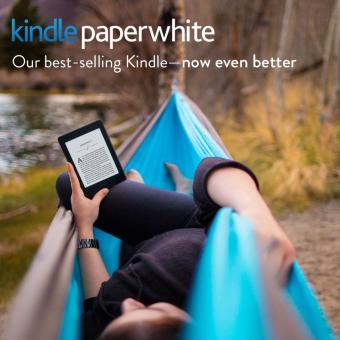 Amazon Kindle Paperwhite 300 PPI (Black 2015, Latest) + 1 x Glossy, 1 x Matt Screen Protector (USA/Special Offers) - 2