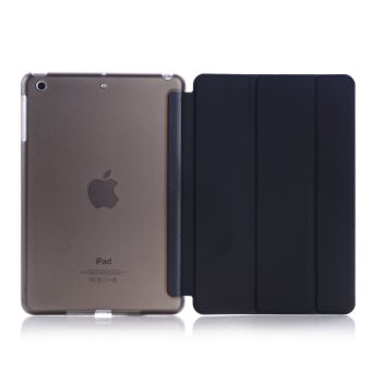 Harga New iPad 2017 iPad 9.7 inch / Ipad Air (ipad 5) case, Welink Ultra Slim Smart Cover PU Leather Case for Ipad Air (ipad 5) / New iPad 2017 iPad 9.7 inch (Black) - intl