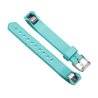 Luxury Silicone Replacement Wrist Watch Band Buckle for Fitbit Alta Twill S (Sky Blue) - 5
