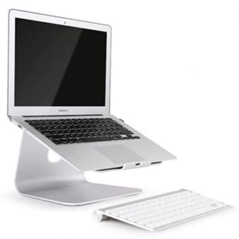 Spinido® TI-Station Laptop Aluminium Cooling Stand For Macbook and All Notebooks(Silver)