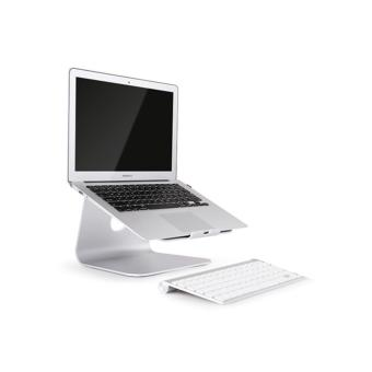 Spinido® TI-Station Laptop Aluminium Cooling Stand For Macbook and All Notebooks(Silver) - 2