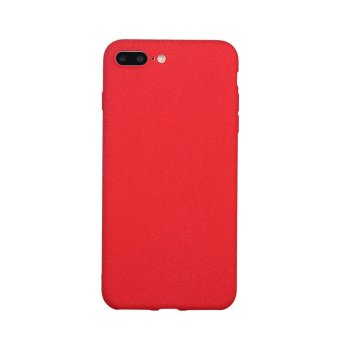 Ultra-Thin Shockproof Cover Soft TPU Matte Back Shell Phone Case For iPhone7 Plus(Red) - intl