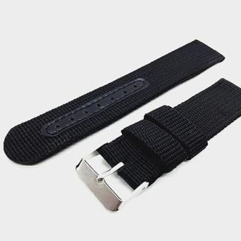 Harga Bluelans Army Nylon Wrist Watch Band Replacement Strap 20mm - Black