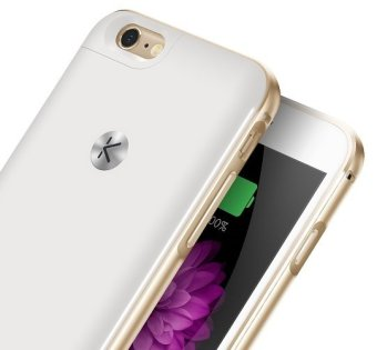 Harga Kuke Iphone 6/6s battery case - Classic (Gold / White)