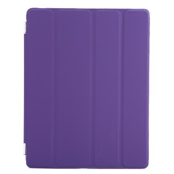 Harga TimeZone Ultra Slim Magnetic Leather Smart Cover Hard Back Case with Stand Function for iPad 2 3 4 (Purple)