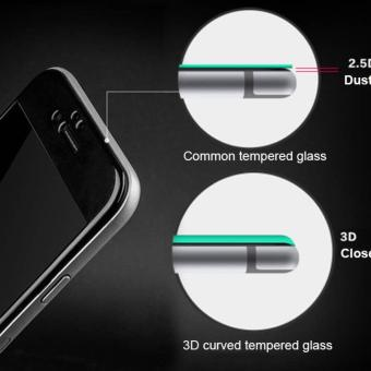 3D Curved Full Cover Carbon Fiber Anti-Scratch 9H Round Edge Tempered Glass Screen Protector For iPhone 6 Plus/ 6s Plus 5.5 inch(White) - intl - 4