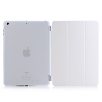 Harga Welink 2 in 1 iPad Air Case Plus Tempered Glass, Detachable Smart Cover + Slim Transparent Back Case for Apple iPad Air 1 (White)