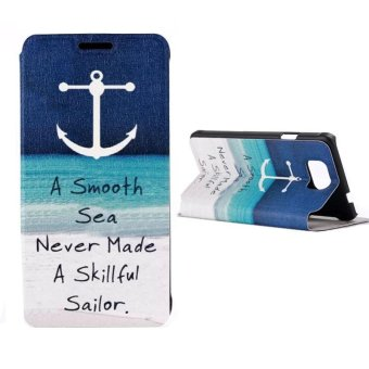 Harga Luxury Anchors Flip Protective Cover Case For Samsung Galaxy Alpha G850F - intl