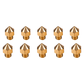 Harga 10pcs M6 Thread Brass Nozzle for 1.75mm Filament 3D V5&V6 Printer Parts Head Accuracy 0.4mm - intl