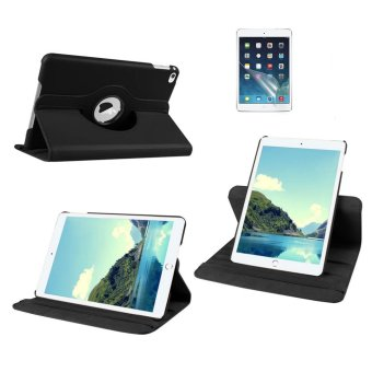 Harga Welink 2 in 1 iPad 2/3/4 Cover Case Plus Screen Protector, 360 Degree Rotating PU Leather Stand Smart Case Cover with Automatic Wake/Sleep Feature for iPad 2/3/4 (Black)(Export)(Intl)