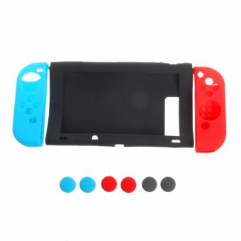 Harga 11 in 1 Anti-Slip Silicone Cover Case Set for Nintendo Switch Joy-Con Controller - intl