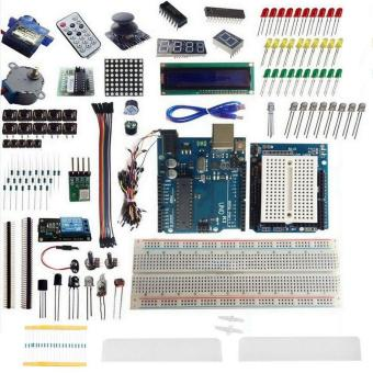 Harga CHEER UNO R3 Starter Kit 1602 LCD Dot Matrix Breadboard LED Resistor for Arduino
