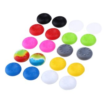 Harga 20pcs Rubber Silicone Cap For PS4 PS3 PS2 XBOX 360 ONE - intl