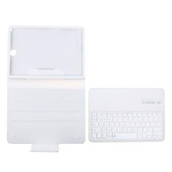 Harga Bluetooth Keyboard Leather Case + Stand for Samsung Galaxy Tab S2 T810/Tab(White) - intl