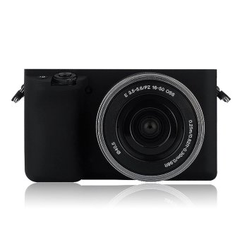 Harga Soft Silicone Gel Rubber Camera Case Cover for Sony A6000(Black) - intl