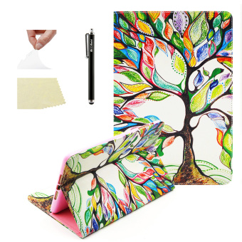 Harga Moonmini Fashion PU Leather Flip Folio Case Cover for Apple iPad Mini 1 2 3 - Tree