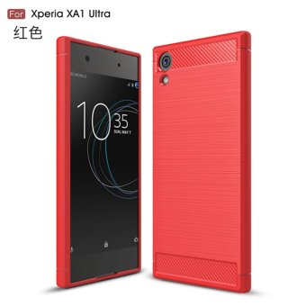 Harga Drawing carbon fiber pattern soft shell case cover for Sony Xperia XA1 Ultra(red) - intl