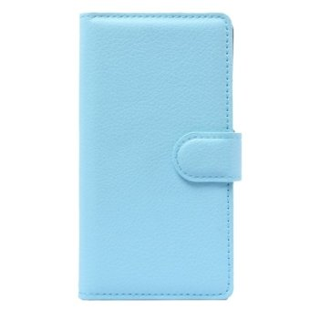 Harga Horizontal Flip Solid color Leather Case with Card Slots and Holder and Wallet for ZTE Blade G LUX(Blue) - intl