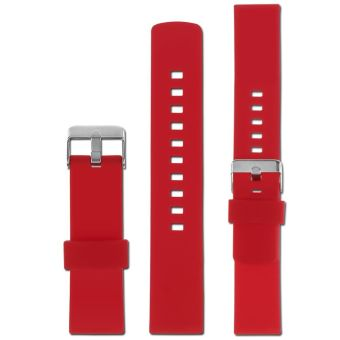 22mm Silicone Band Strap Bracelet Replacement For Pebble Time Steel Smart Watch Red - 2