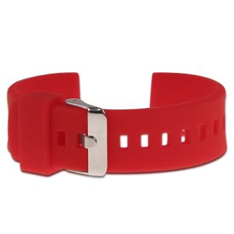 22mm Silicone Band Strap Bracelet Replacement For Pebble Time Steel Smart Watch Red - 3