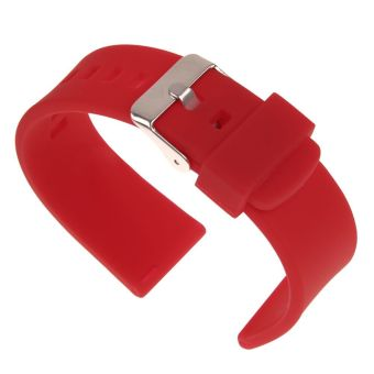 22mm Silicone Band Strap Bracelet Replacement For Pebble Time Steel Smart Watch Red - 4