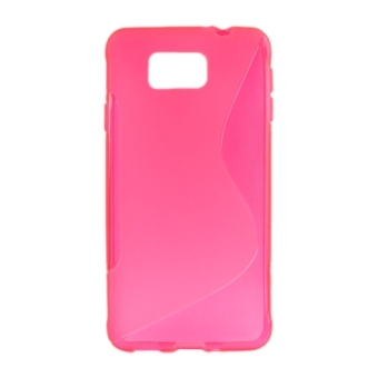 Harga S Line Anti-slip Frosted TPU Protective Case for Samsung Galaxy Alpha / G850F (Magenta)