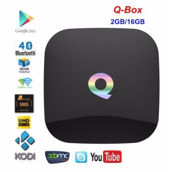 Harga Q Box Android 5.1 TV BOX qbox HD Receiver Amlogic S905 2GB RAM 16GB ROM Dual Band KODI IPTV Smart TV Set-top Box Q-BOX - intl