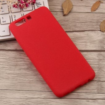 Ultra-Thin Shockproof Soft TPU Matte Back Shell Phone Case For Huawei P10 (Red) - intl