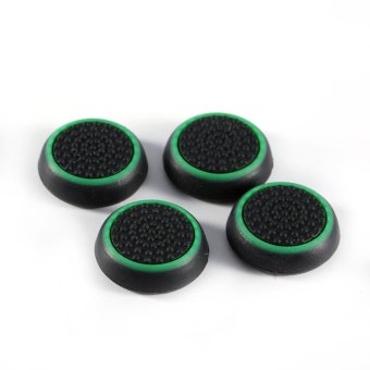 Harga 4Pcs/Box Silicone Controller Joystick Grip Cap Cover For PS3 PS4(Green) - intl