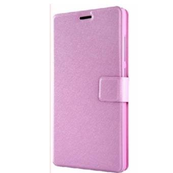 Harga Xiaomi Redmi Note 3G/4G Smart Leather Wallet Flip Case Casing Cover (Pink)