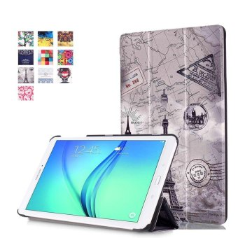 Harga CLOUDSEA Samsung Galaxy Tab E 9.6 Case - Ultra Slim Lightweight Stand Cover for Samsung Tab E Wi-Fi / Tab E Nook / Tab E Verizon 9.6-Inch Tablet (Fit Versions SM-T560 / T561 / T565 / T567V), Vintage Tower - intl