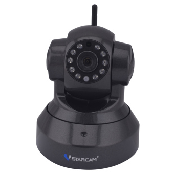 "Harga VSTARCAM C7837WIP 1/4"" CMOS 720P Wifi IP Camera - Black (UK Plug)"