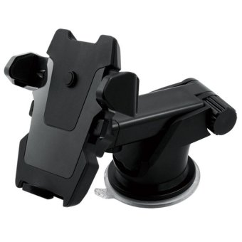 TIEMOTU ZJX802 360 Degree Car Mount Mobile Mount Air-conditioning Vent Mount Mobile Phone Mount Holder Cradle with Transparent Sucker Suitable for 3.5 to 6.3 Inch Screen Mobile Phone or Navigation Equipment/Smartphone GPS Black - intl - 2