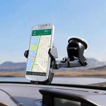 TIEMOTU ZJX802 360 Degree Car Mount Mobile Mount Air-conditioning Vent Mount Mobile Phone Mount Holder Cradle with Transparent Sucker Suitable for 3.5 to 6.3 Inch Screen Mobile Phone or Navigation Equipment/Smartphone GPS Black - intl - 4