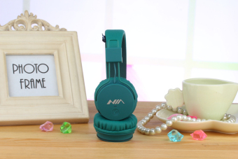 NIA X2 4-in-1 Wireless Bluetooth Hands-free Headphone Support Micro SD Player / FM Radio (Green) - 2