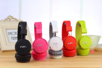 NIA X2 4-in-1 Wireless Bluetooth Hands-free Headphone Support Micro SD Player / FM Radio (Green) - 3