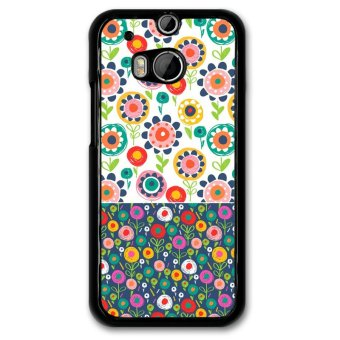 Harga Y&M Phone Case For HTC M8 Hand Draw Floral Pattern Cover (Multicolor)