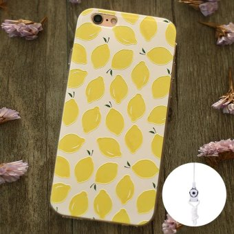 Harga For Apple iPhone 6 Plus 6s Plus 5.5inch Phone Case Cover Lovely 3D Relief Painting Soft TPU Back Cover Case Fresh Fruit Pattern Cute For iPhone 6Plus - intl