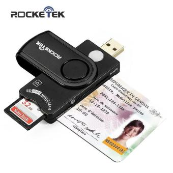 Harga Rocketek Smart Card Reader DOD Military USB Smart Card Reader / CAC Common Access Card Reader Writer for SD micro SD M2 MS cards