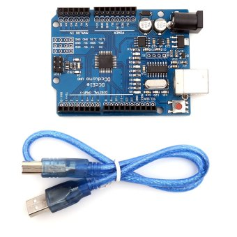 Harga USB Arduino UNO Rev3 R3 Development Board Compatible With ATmega328P(Black)
