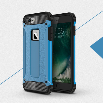 Harga PC + TPU Combo Shockproof Back Case Cover For Apple iPhone 7 Plus (Sky Blue)