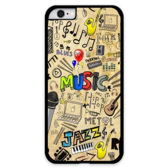 Harga Y&M Cell Phone Case For iPhone 6 Plus Love Music Pattern Cover (Multicolor)