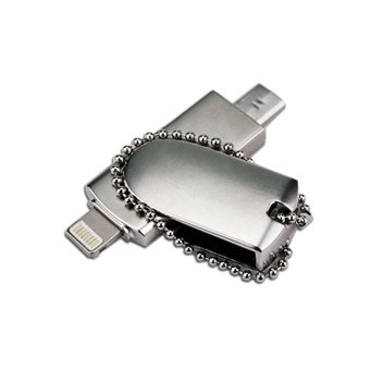 128G 3 in1 OTG 608 i-flashdrive usb flash drive for iphone and android pen drive u disk - intl - 2