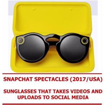 Harga GeekBite Snapchat Spectacle Sunglasses 2017! Sunglasses That Takes Videos And Uploads To Social Media! Limited Stock