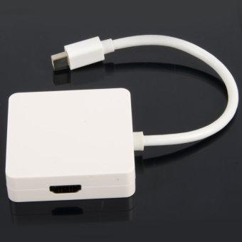 Mini DisplayPort Thunderbolt to DVI VGA HDMI Adapter cable3 in1 for MacBook- - intl - 2