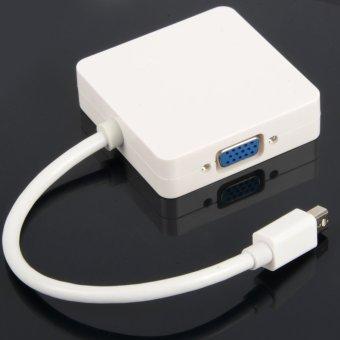 Mini DisplayPort Thunderbolt to DVI VGA HDMI Adapter cable3 in1 for MacBook- - intl - 3