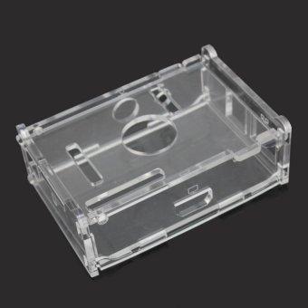 AC Transparent Acrylic Case Enclosure Computer Box + 3 Heat Sink For Raspberry Pi - intl - 3