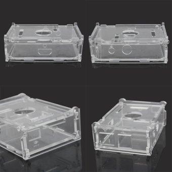 AC Transparent Acrylic Case Enclosure Computer Box + 3 Heat Sink For Raspberry Pi - intl - 2
