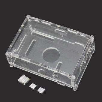 AC Transparent Acrylic Case Enclosure Computer Box + 3 Heat Sink For Raspberry Pi - intl - 4