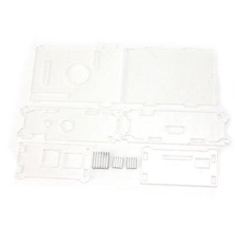 AC Transparent Acrylic Case Enclosure Computer Box + 3 Heat Sink For Raspberry Pi - intl - 5